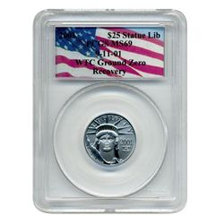 2001 PCGS MS-69  $25 Platinum American Eagle  World Trade Center Recovery  52 total recovered