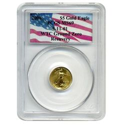 2000 PCGS MS-69  $5 Gold American Eagle  World Trade Center Recovery  13 total recovered