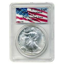 2001 PCGS $1 Silver American Eagle  World Trade Center Recovery  1 of 1440