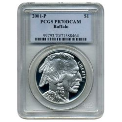 2001 P  PCGS PR-70DCAM  American Buffalo  (Older PCGS PNG Holder)