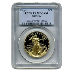 2002-W  $50 PCGS PR-70DCAM  American Gold Eagle  (Older PCGS PNG  Holder)
