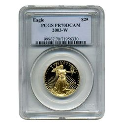 2003-W  $25 PCGS PR-70DCAM  American Gold Eagle  (Older PCGS PNG  Holder)