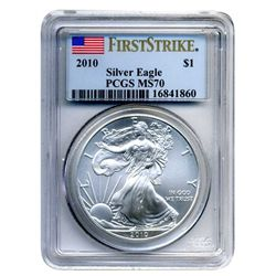 2010  $1 PCGS MS-70  American Silver Eagle  First Strike Designation