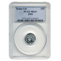 2000 PCGS MS-69 $10 American Platinum Eagle