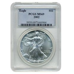 2002 PCGS MS-69 American Silver Eagle   GEM