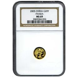 2005 NGC MS-69 20Y Chinese Gold Panda
