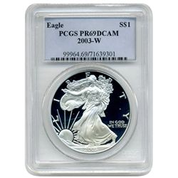 2003 PCGS PR-69DCAM  Proof American Silver Eagle