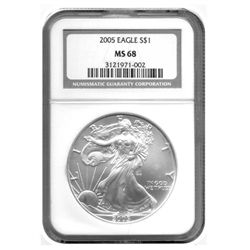 2005 NGC MS-68 American Silver Eagle    1 ounce silver