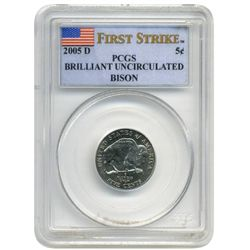 2005 D   PCGS Bison Nickel  First Strike