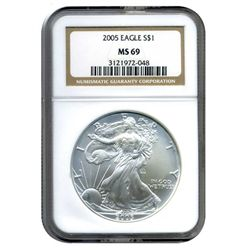 2005 NGC MS-69 American Silver Eagle
