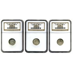 1247-72  NGC  AU-55  MS-60  MS-62  G.Britain 1P Henry III London  (WORLD'S FINEST 3 coin lot)