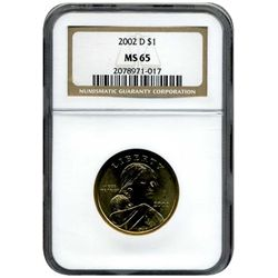 2000-D $1 Sacagawea Graded NGC MS-65