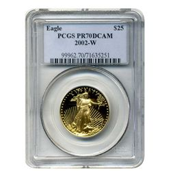 2002-W $25 PCGS PR-70DCAM American Gold Eagle (Older PCGS PNG Holder)