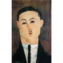 Portrait of Paul Guillaume by Amedeo Modigliani  Lithograph 