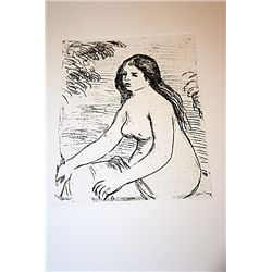 Renoir Posthumous Etching - Seated Nude