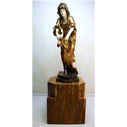 Victoria - Bronze and Ivory Sculpture by Colinet