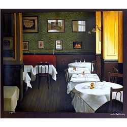 Renoux Hand Signed Limited Edition Lithograph   RISTORANTE 