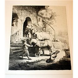 A. Durand Rembrandt - The Good Samaritan - Etching