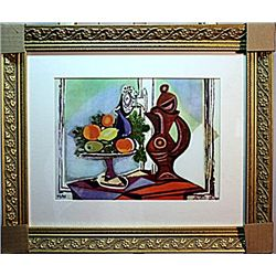 Picasso - Limited Edition - Compote Dish And Pitcher By The Window