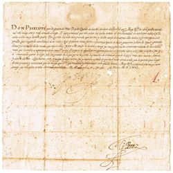 1566 (20 March) Important State letter issued by King Philip II of Spain to Cardinal Innocenzo del M