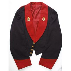 circa 1900: Royal Army Medical Corps officers' mess dress uniform
