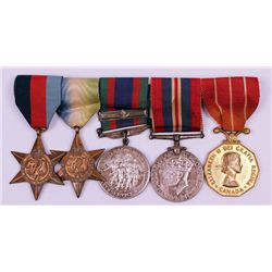1939-45: Canadian Forces Decoration WW2 group of 5 to Canadian Navy Petty Officer