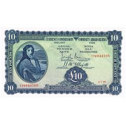 Currency Commission 'Lady Lavery' Ten Pounds, 2-7-40