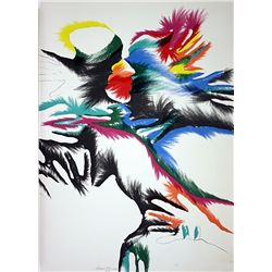 Marisol Escobar Hand Signed and Numbered Lithograph - Blackbird Love