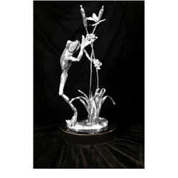 Original Fine Silver Sculpture - Anticipation by Matthews