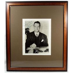 LOU GEHRIG AUTOGRAPHED PHOTO W/ COA - FRAMED & MATTED