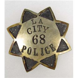 LOS ANGELES CITY NO 68 POLICE LAW ENFORCEMENT BADGE