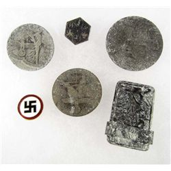 LOT OF GERMAN NAZI TINNIE BADGES