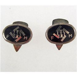 PAIR OF GERMAN NAZI WAFFEN SS FM DONATION PARTY CUFF LINKS