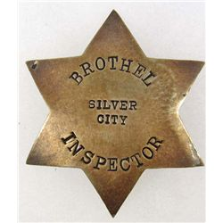 OLD WEST COWBOY ERA SILVER CITY NEW MEXICO BROTHEL INSPECTOR BADGE