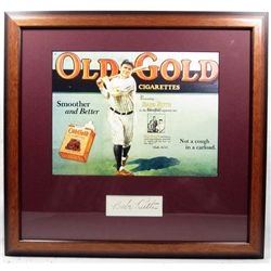 BABE RUTH CUT SIGNATURE W/ PICTURE - FRAMED W/ COA
