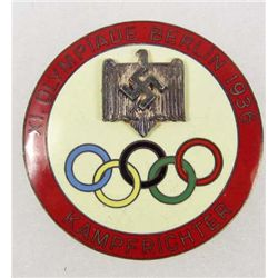 GERMAN NAZI 1936 BERLIN SUMMER OLYMPICS JUDGE BADGE