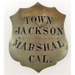 OLD WEST COWBOY ERA TOWN MARSHAL JACKSON CAL LAW BADGE