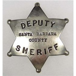 OBSOLETE SANTA BARBARA COUNTY CA  DEPUTY SCHERIFF POLICE LAW BADGE