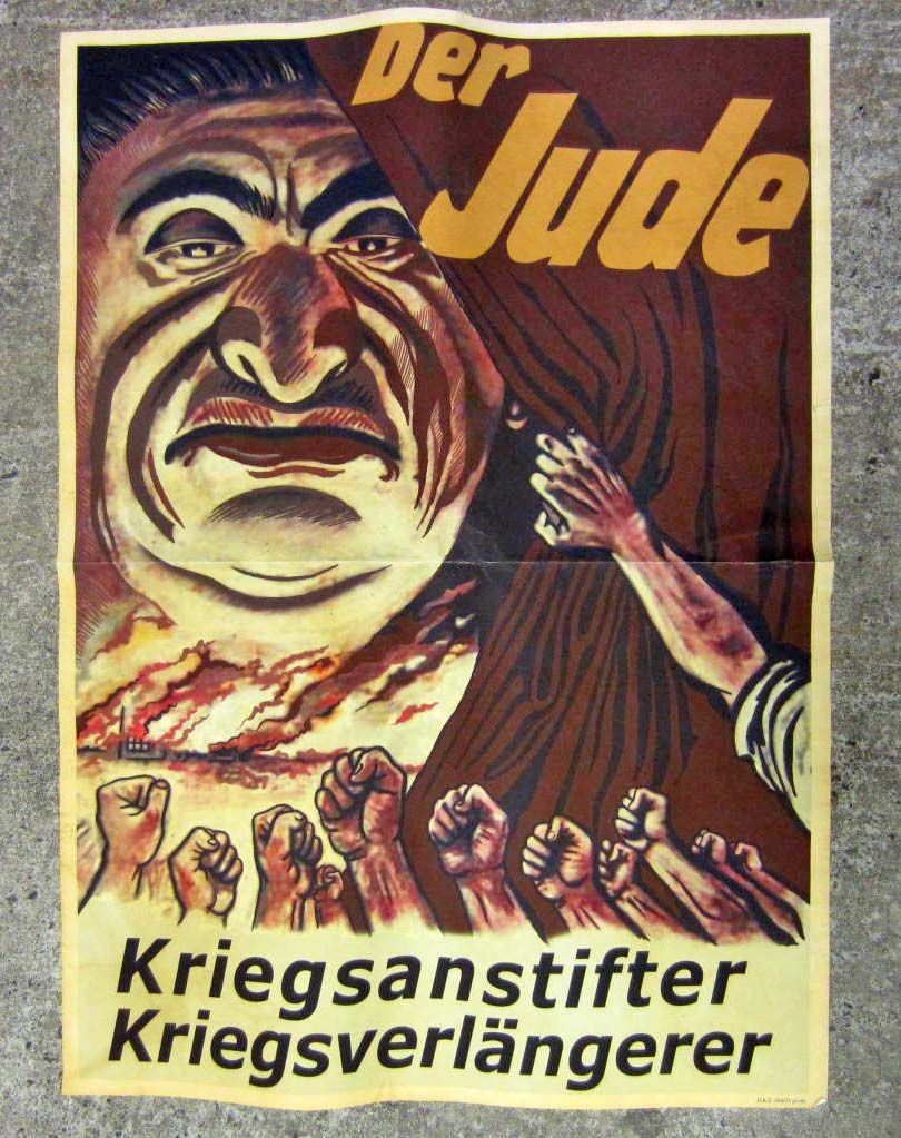 WW2 GERMAN NAZI RUSSIAN ANTI-SEMITIC POSTER - Text