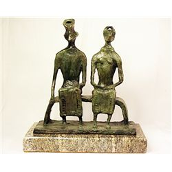 Henry Moore  Original, limited Edition  Bronze- King and Queen