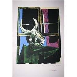 Limited Edition Picasso - Bullhead with Still Life - Collection Domaine Picasso