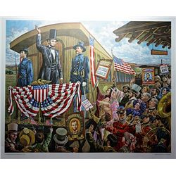 Lithograph  Mr. Lincoln goes to Washington  by artist Lee Dubin