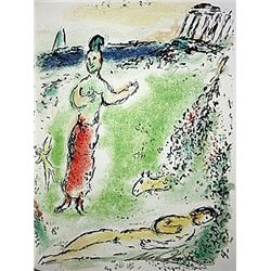 Athene Puts Ulysses to Sleep by Chagall from the Odyssey Suite.