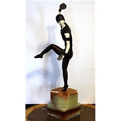 Male Russian Dancer - Bronze and Ivory Sculpture by Chiparus