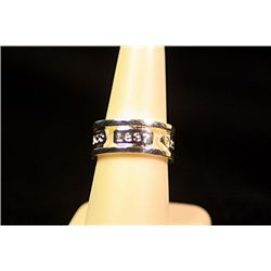 Unisex Fancy Sterling Silver  1837 T&Co. Band  Design Tiffany Ring