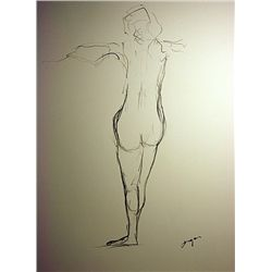 After Degas Original Hand Draw on paper