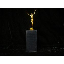 Dali 24K Gold Layered Bronze Sculpture- St John on the Cross