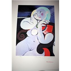 Limited Edition Picasso - Nude Girl with Necklace - Collection Domaine Picasso