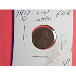 1913 D LINCOLN CENT