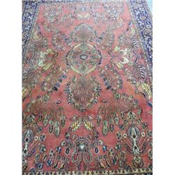Center medallion Sarouk rug